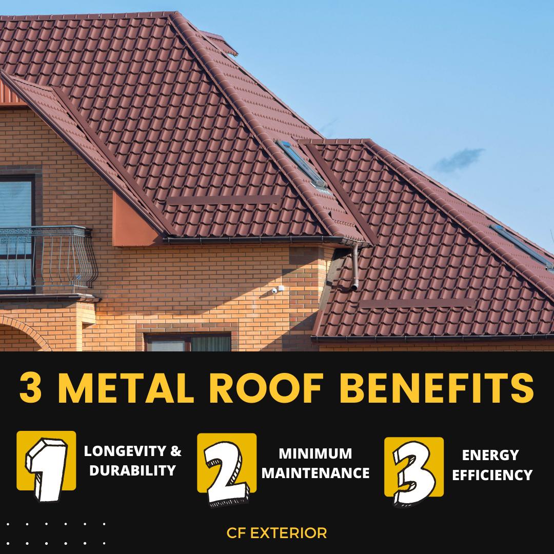 3 metal roof benefits